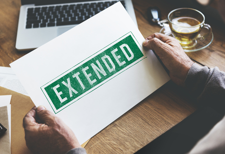 expand: Extended Expand Growth Linked Media Vision Concept Stock Photo