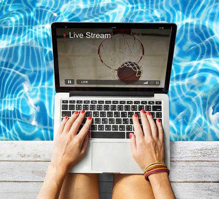 Live Stream Video Multimedia Concept Stock Photo