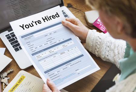 You Are Hired Form Concept