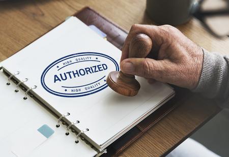authorisation: Authorized Allowance Permission Permit Approve Concept