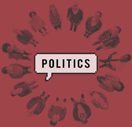 conflict theory: Politics Debate Government Nation Party Power Concept Stock Photo