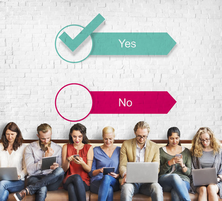 Yes No Answer Questionnaire Concept
