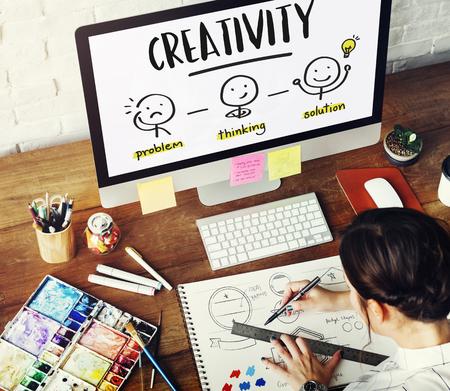problem solution: Creativity Thinking Brainstorm People Concept