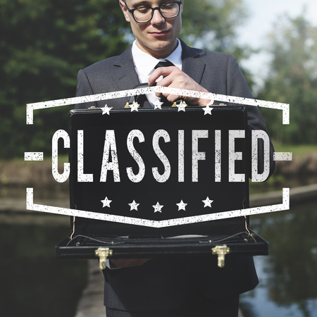 classified: Inspected Classified Original Qualified Concept Stock Photo