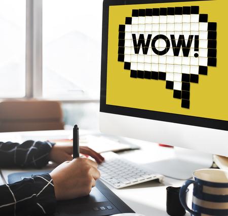 gosh: Expression Words Emotion Communication Slang Concept Stock Photo