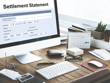 settlement: Settlement Statement Balance Scrutiny Estate Concept
