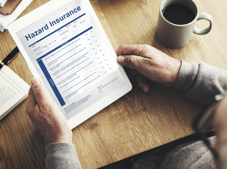 questionaire: Hazard Insurance Property Protection Terms Concept