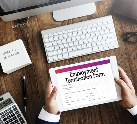 terminate: Employment Termination Form Document Concept Stock Photo