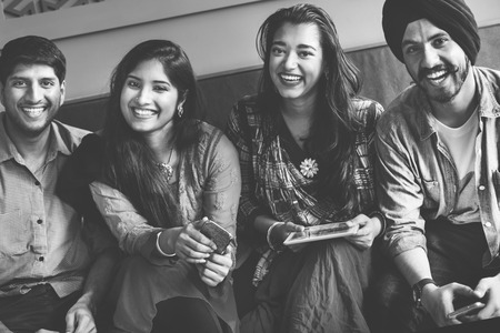 indian ethnicity: Indian Ethnicity Friendship Society Togetherness Concept
