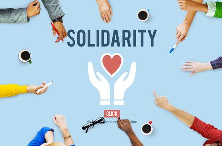 team spirit: Solidarity TEam Spirit Unity Icon Concept