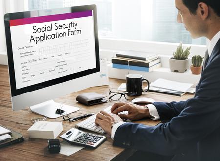 seguridad social: El concepto de seguro de pensiones formulario de solicitud de la Seguridad Social
