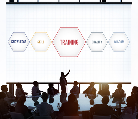 Training Success Development Geometric Forms Graphic Stock Photo