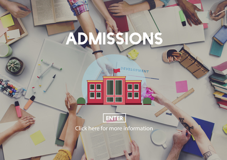 university admission: Academic College Bachelor Degree Admission Concept