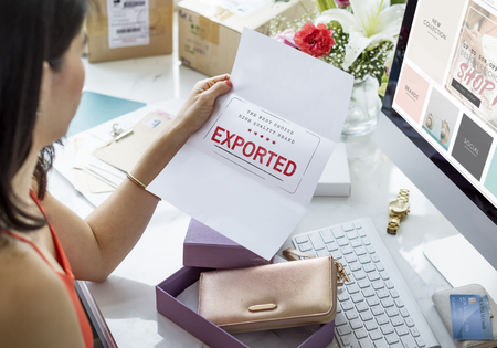 pending: Pending Imported Purchase Business Concept Stock Photo