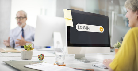 verification: Log In Accessible Permission Verification Security Concept Stock Photo