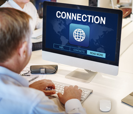 more mature: Global Communication Connection Networking Graphic Concept