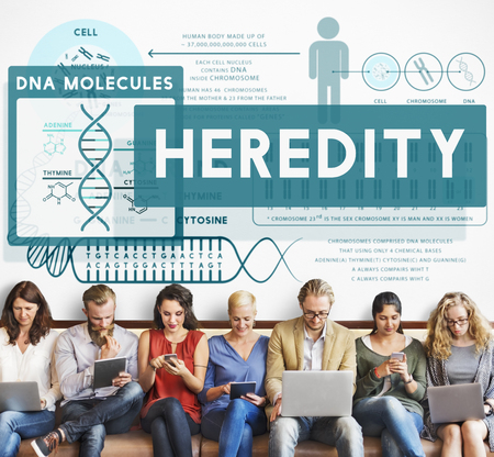 cromosoma: La herencia Biología Molecular Cromosoma concepto de la ciencia