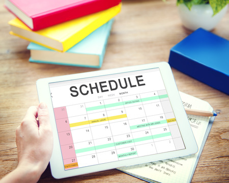 appointing: Schedule Activity Calendar Appointment Concept Stock Photo