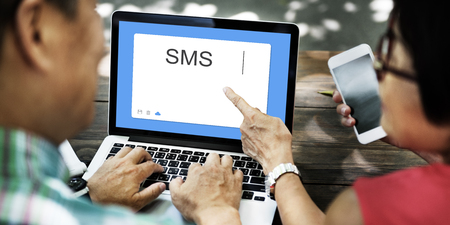 global retirement: SMS Social Network Window Communication Concept