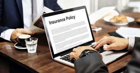 policy document: Insurance Policy Agreement Terms Document Concept Stock Photo