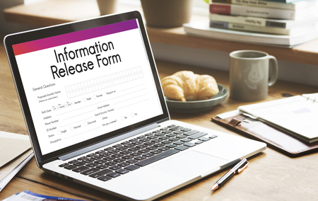 release: Information Release Form Document Concept