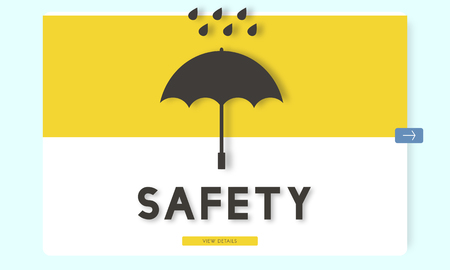 Umbrella with safety concept Stock Photo