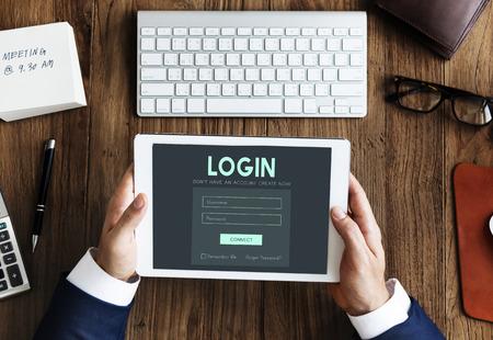 Member Log in Membership Username Password Concept Stock Photo