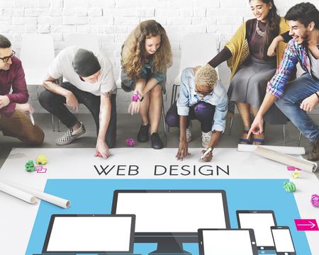 diversity domain: Web Design Layout Content Devices Graphic Concept