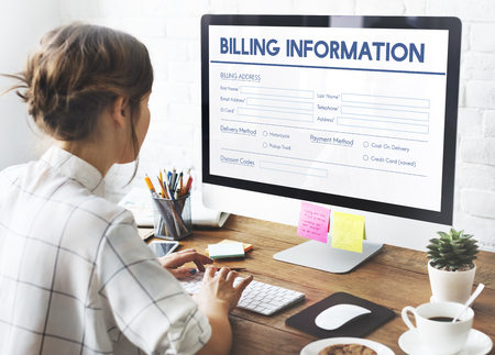 Invoice Billing Information Form Graphic Concept Фото со стока - 64700684