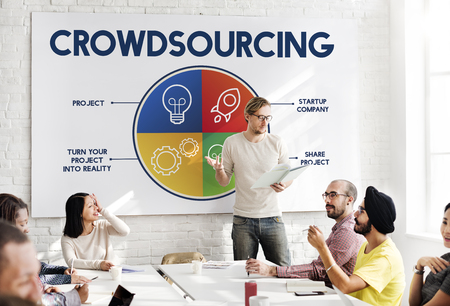 Presentation with crowdsourcing concept