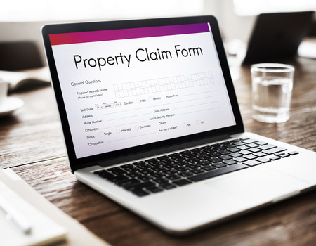 release: Property Release Claim Form Concept