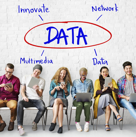digital data: Cyberspace Network Multimedia Innovate Multimedia Concept