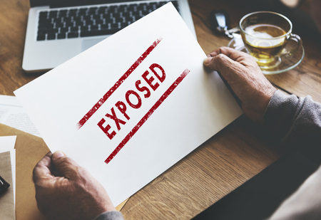 disclosed: Exposed Disclosed Declarative Indicative Relating Concept Stock Photo