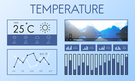 estimation: Weather Condition News Report Climate Forecasting Meteorology Temperature Concept
