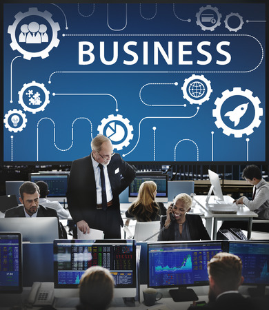 stock market launch: Business Strategy Growth Corporation Concept Stock Photo
