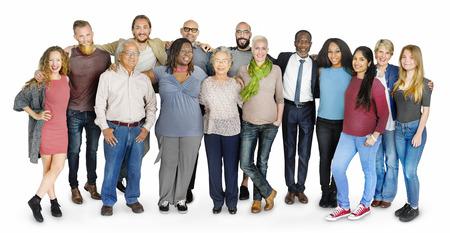 Разнородная группа людей, стоящих Концепция