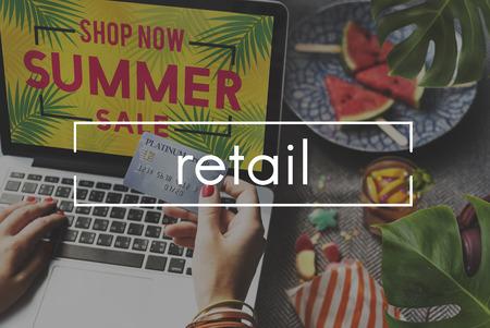 consumerism: Online Shopping Commerce Internet Consumerism Concept