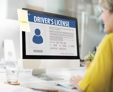 drivers license: Drivers License Registeration Application Webpage Concept