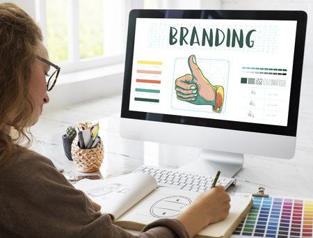 Branding Design Practice Success Creative Concept Stock Photo