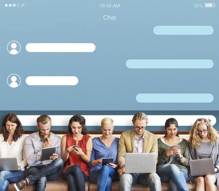 Chat Conversation Communication Connection Concept Stock Photo
