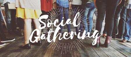Evento social Juntos Comunidad Concepto Trabajo en equipo