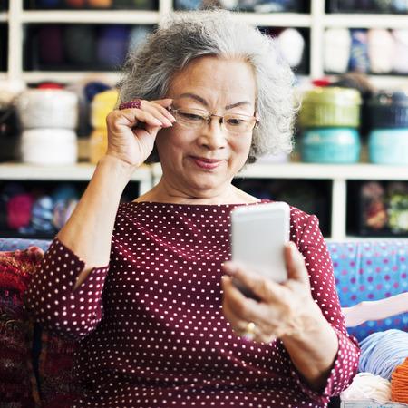 recreational pursuit: Knitting Handcraft Leisure Activity Recreational Pursuit Retirement Concept