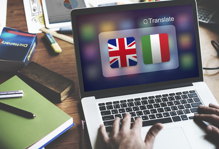 foreign country: Flag Countries Foreign Word Translation Concept Stock Photo