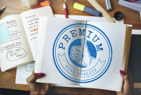 thumps up: High Quality Guarantee Badge Logo Premium Concept