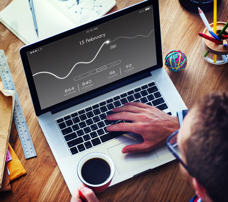 Application Usage Graph Chart Concept Stock Photo
