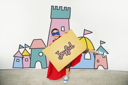 showoff: Children Enjoy Castle Joyful Concept Stock Photo