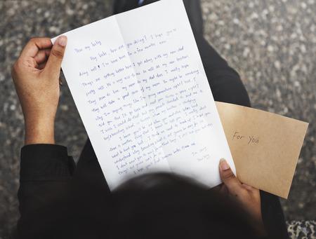 correspondence: Concepto Conexión carta correo correspondencia Comunicación