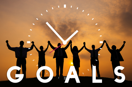 man business oriented: Goals Aspiration Inspiration Vision Target Concept