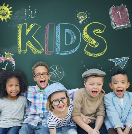 child care: Study Ideas Learn Kids Concept Stock Photo