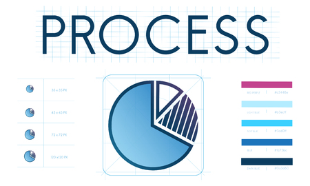 Pie chart with process concept